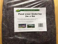 Pond Liners -Underlay - New/still baged- 8m x 2m pieces - 8 piece bundle