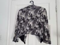 H&M extra fit jacket size XS, 34, 6 black &white short BIG DISCOUNT