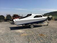 Project boat with trailer 15ft by 6ft