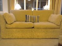 Lovely pale yellow gold sofa from Marks & Spencer. Large two seater in great condition.