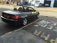 BMW 3 SERIES (320 Diesel) Convertible 2009 full black leather and Sat Nav Automatic