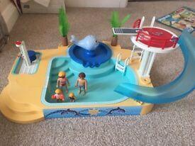 Play mobil swimming pool , water park