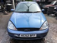 2003 Ford Focus Lx 5dr 1.6 Petrol Blue BREAKING FOR SPARES