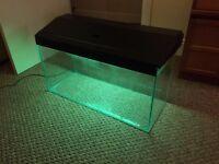 90 litres fish tank, LED, filter, heater
