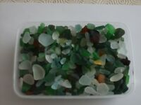 Sea buffered and part buffered sea glass