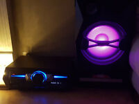 *SWAP* SONY SHAKE 33 HIFI STEREO MUSIC SYSTEM LED CHANGING CONES VERY LOUD BASS BLUETOOTH