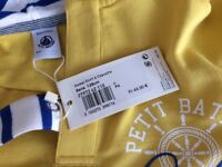 Brand new Petit Bateau clothes 8yo- trousers and jersey- never used