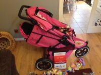 Phil&Teds Sport V2 Double buggy pink camo