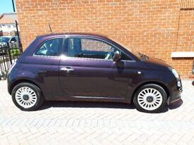 lovely purple Fiat 500