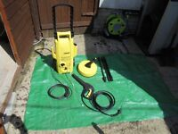 Karcher presure washer with assorted tools used twice in good condition