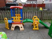 molto outdoor toy train and slide