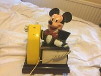 Vintage Mickey Mouse phone perfect working order