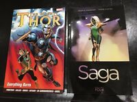 The mighty Thor: Everything burns & Saga: Volume 4