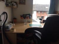 Sturdy wooden office desk