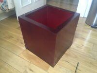 XL Red acrylic planter / box / plant pot