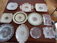 Selection of plates / trays