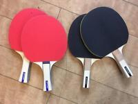 4 x Dunlop Table Tennis Bats / Padels, Immaculate