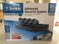 Swann advanced security system , digital recorder and 4 cameras