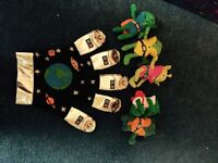 Five little men in a flying saucer story props