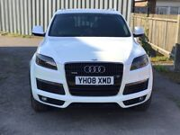 Audi Q7 S-line, Panoramic Roof. Pearl white (Blue effect) Remapped 295 hp