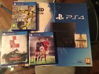 PlayStation 4 and games 1 pad