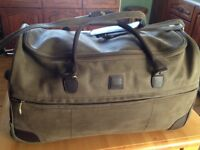 Tripp wheel luggage olive green leather cabin and larger bag