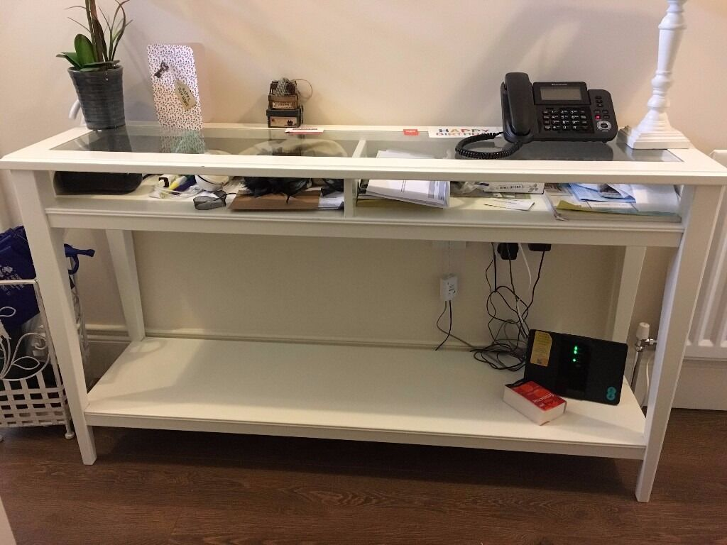 Ikea liatorp white console table good conditions in belfast gumtree Console coffee table