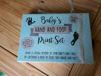 Baby ink hand and foot print set