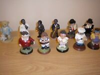 """Small 3"""" figures in various sporting, music and other roles. £45"""