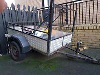 Car trailer 6 x 4 fully aluminium