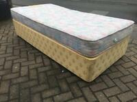 Single divan bed with mattress-£25 delivered