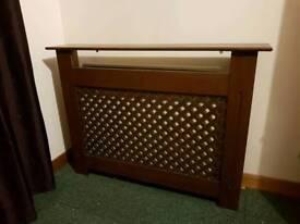 Dark wood finished radiator cover