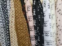 Designer silk/cotton scarves