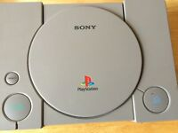 Original PS1 console with one controller and game but no leads