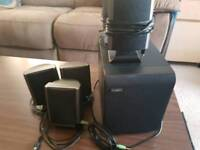 It works pc speakers with subwoofer