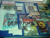 90 FOOTBALL MATCHDAY PROGRAMMES AND 100+ MATCH ATTAX CARDS