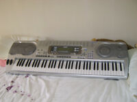 casio wk 3500 full size keyboard with stand power supply and instruction manual