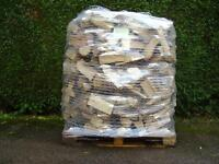 Kiln Dried Firewood Hardwood Logs - 1.2 cubic metre pallet of dry wood