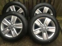 """17"""" 18"""" VW Transporter T6 T5 Alloy Wheels Conti Tyres T32"""