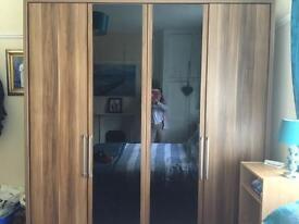 Double wardrobe oak solid