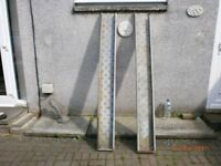 2 GALVANISED RAMPS FOR LOADING QUAD OR BIKES ON TO TRAILER OR PICK UP OR TO MAKE A BIKE TRAILER.