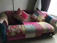 Two 3 seat sofas
