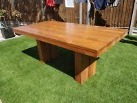 Solid wood teak dining table