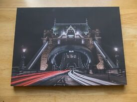 A3 London Wall Art Canvas, Big Ben,Tower Bridge,London Eye,St Paul,Richmond Park Autumn Photography