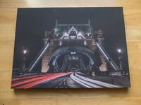 A3 London Wall Art Canvas, Big Ben,Tower Bridge,London Eye,St Paul,Richmond Park Autumn Photography