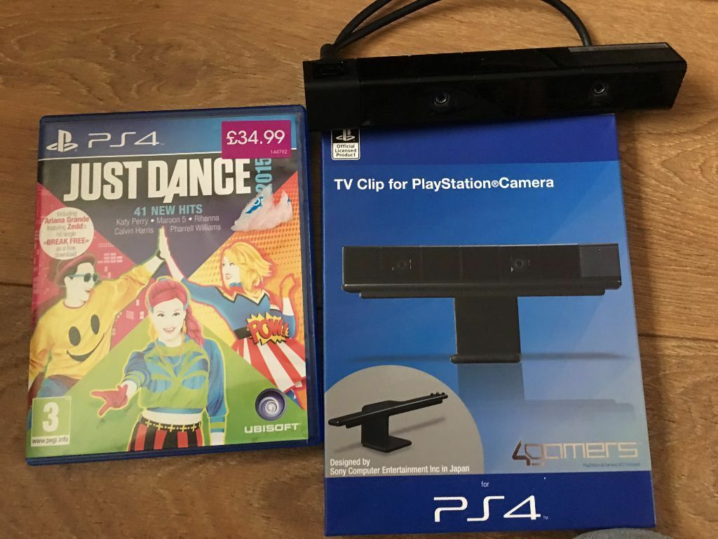 Playstation 4 Ps4 Camera Clip Amp Just Dance Game In