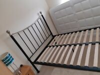 "Metal Bed Frame for 4' 6"" mattress"