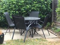 Garden table and 4 chairs set - SW11