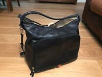 Black leather pacapod bag
