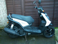 YAMAHA BWS 125 FOUR STROKE SCOOTER ONLY 10,000 MILES FULL MOT VG CONDITION LIKE VITY /CYGNUS
